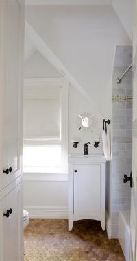 attic bathroom sloped ceiling | www.Gradschoolfairs.com
