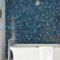 White and Blue Bathroom with Fez Blue Vintage Moroccan ...