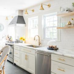 Bronze Pull Down Kitchen Faucet Swinging Door White And Gold With Bertazzoni Range ...