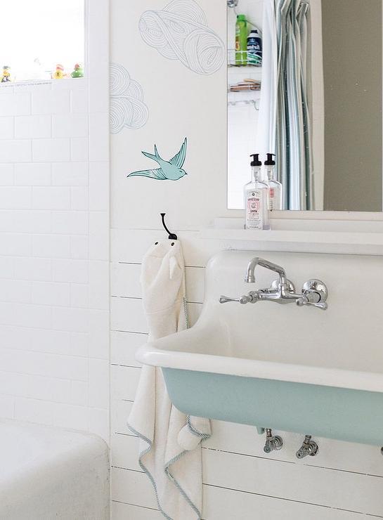 Turquoise Blue Bathroom Sink  Cottage  Bathroom