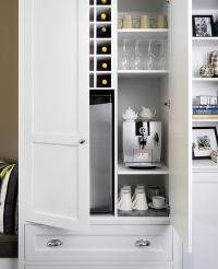 Kitchen Cabinet with Coffee Station and Wine Bar ...