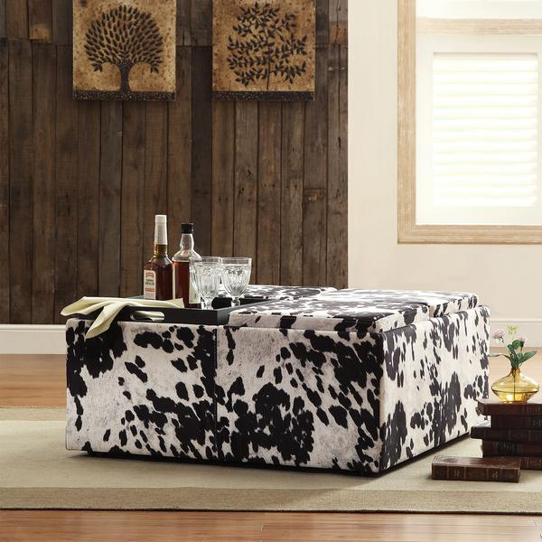 Faux Cowhide Ottoman  Products bookmarks design inspiration and ideas