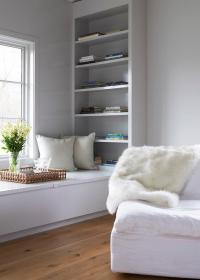Built In Window Seat with Bookshelf - Modern - Den/library ...