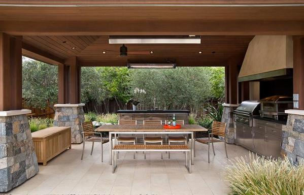 outdoor kitchen covered patio Outdoor Kitchen Ideas - Country - Deck/patio - TTM Development
