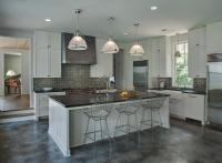 Light Gray KItchen Cabinets with Dark Gray Subway Tile ...