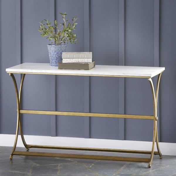 Jackson Rectangular Table With Metal Base Dining Room