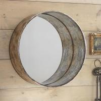 Round Wall Mirror Nautical in Black
