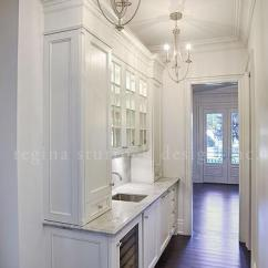 Kitchen Pantrys Compost Container White Narrow Butler Pantry With Two Chandeliers ...
