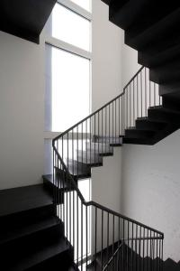 Painted Stair Case - Eclectic - entrance/foyer