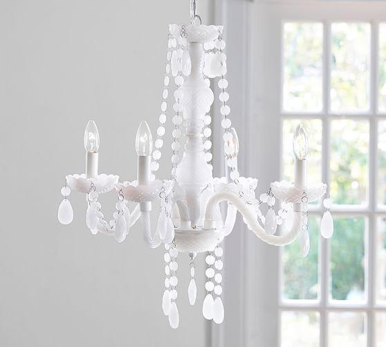 HandKnit Chandelier in White