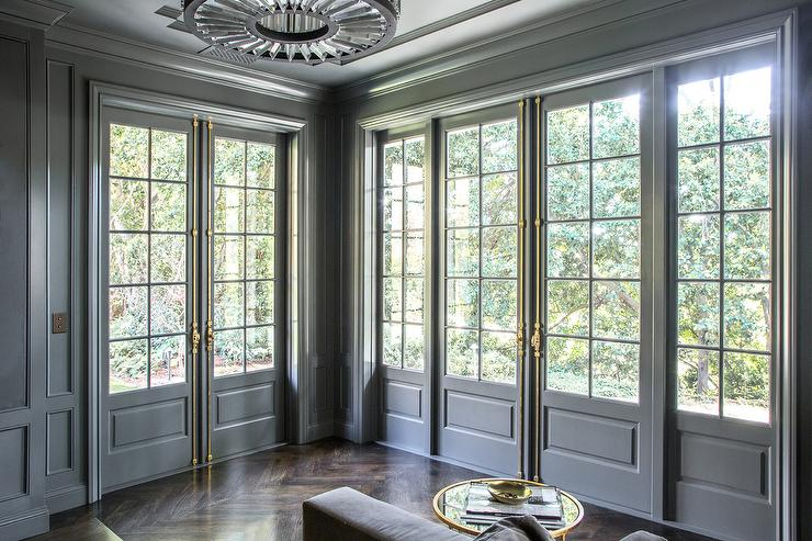Living Room French Doors Design Ideas