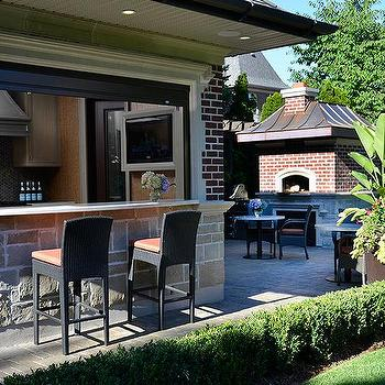 Pool House Outdoor Bar Design Ideas