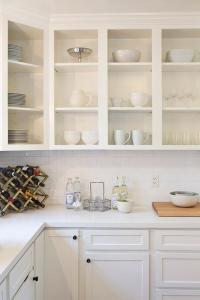 White Upper Cabinets Design Ideas
