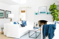 Blue And White Sofa Living Room Lovely Soft Blue ...