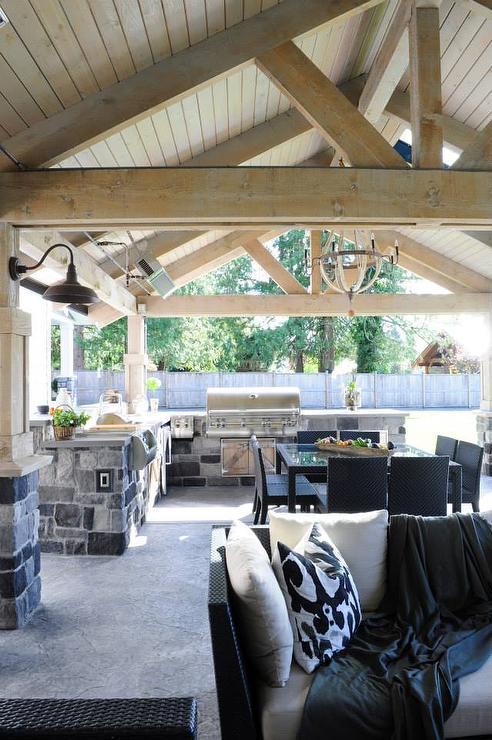 Outdoor Kitchen Ideas Country Deck Patio Ttm Development