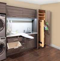 Pull Out Laundry Room Cabinet with Ironing Board ...