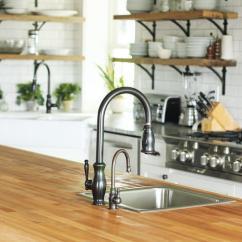 Kitchen Island With Prep Sink Oakley Thick Butcher Block Countertop ...