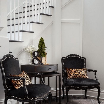 french velvet chair graco swing uk black chairs design ideas with leopard pillows