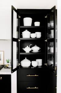 Black Cabinets Gold Hardware Design Ideas