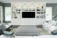 Living Room Built Ins With Picture Lights Design Ideas