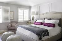Purple and Gray Bedroom with Light Gray Ceiling ...