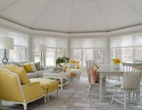 Sunroom Dining Room with Vaulted Glass Ceiling ...
