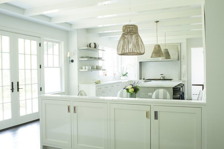 kitchen bay window over sink corner table nook banquette - transitional