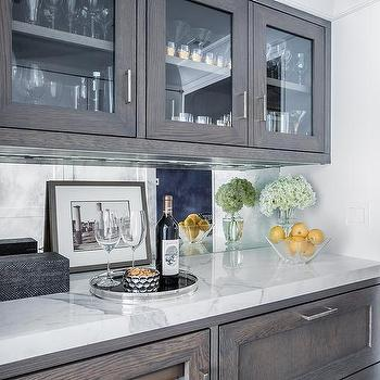 Walnut Stained Bar Cabinets Design Ideas