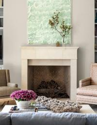 Mismatched Fireplace Chairs - Transitional - Living Room