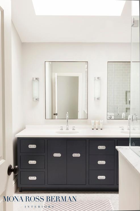 Black Bathroom Mirrors Design Ideas