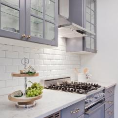 Ikea Kitchen Cabinets Pre Cut Granite Countertops Gray With White Beveled Subway Tile Backsplash