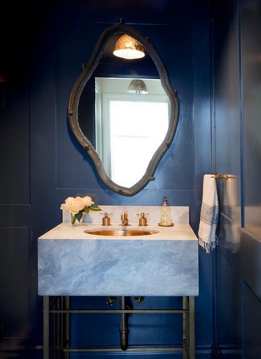 Navy Bathroom Vanity