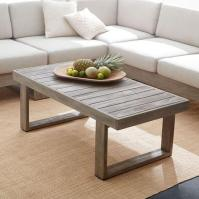 Portside Grey Finish Wooden Rectangular Coffee Table