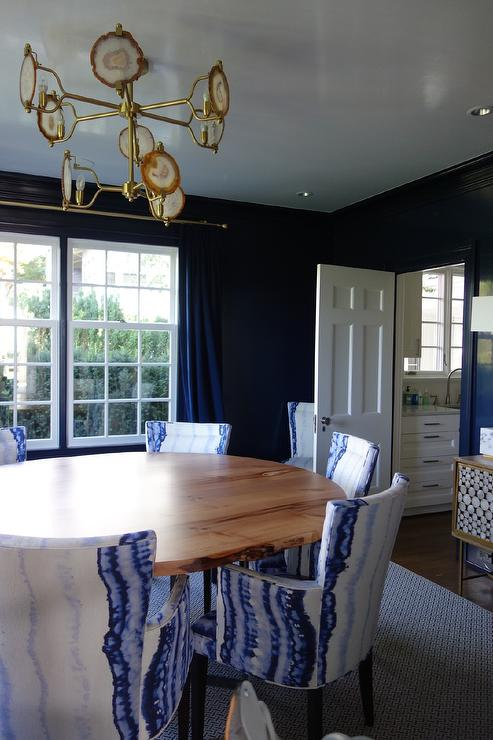 Blue Dining Room with Emporium Home Two Tier Eclipse Agate