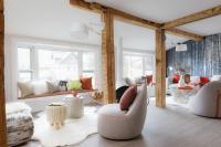 Modern Cabin Living Room Design - Contemporary - Living Room