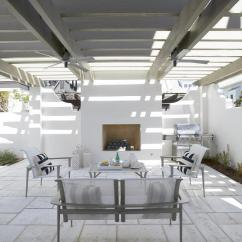 Seat Cushions For Kitchen Chairs Moen Chateau Faucet Repair Outdoor With Stone Fireplace - Transitional Pool