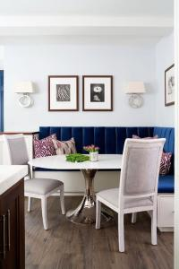 Sapphire Blue Velvet Dining Banquette with Bungalow 5 ...