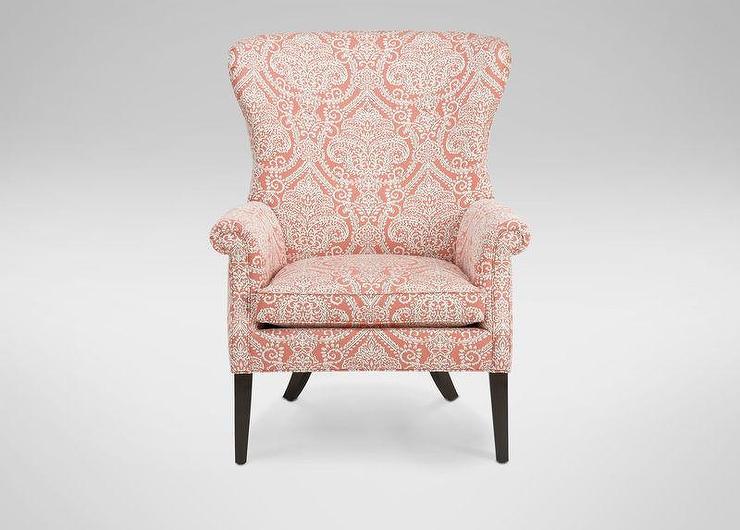 chair design wallpaper la z boy office warranty vintage pattern coral roll arm wing