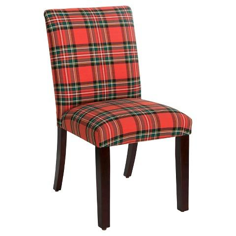 Plaid Suitor Black and White Chair