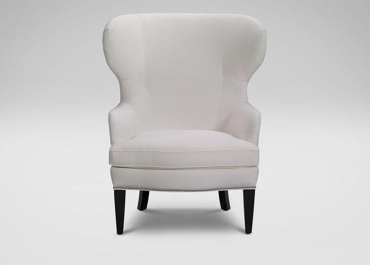 white upholstered chairs gold for sale wing chair