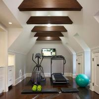 Exercise Room with Black and White Hand Painted Accent ...