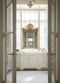 French Doors to Master Bathroom - Transitional - Bathroom