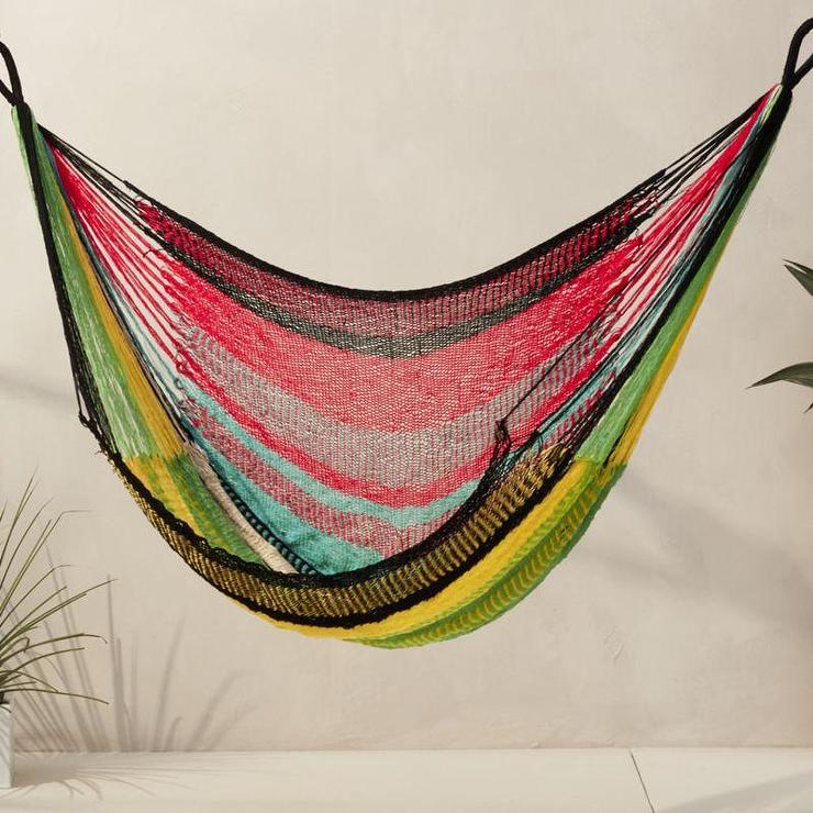 swing chair local covers for sale in dubai yellow and red stripes hammock