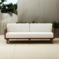 Retro Living Room Furniture Sets House Beautiful Ideas Wooden Arm Off White Upholstered Sofa