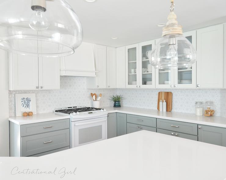 wilsonart kitchen cabinets simulator caesarstone pure white quartz countertops on angled ...