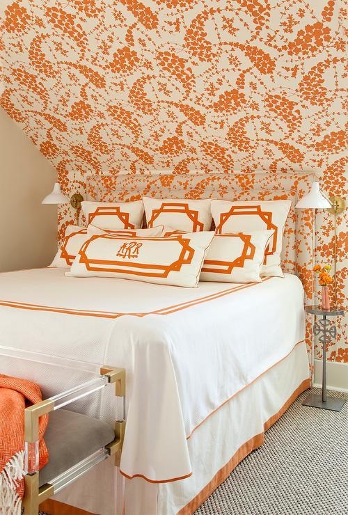 Wallpaper Orange Bedroom China
