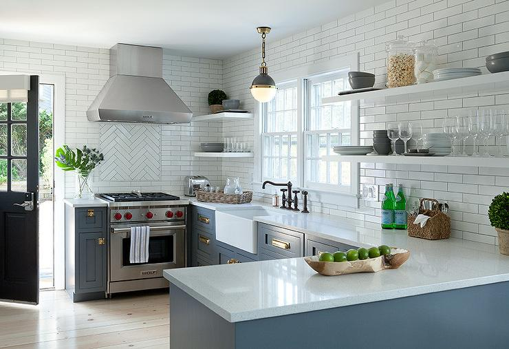 floating kitchen cabinets natural pine shelves under appliances tips blue with vine br latch hardware