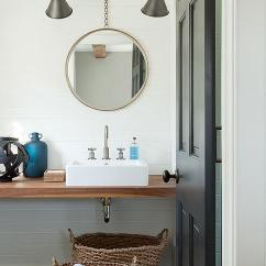 Full Size Mirror In Living Room Nautical Decor Ideas Modern Cottage Bathroom With Large Black Hex Tile Floor ...