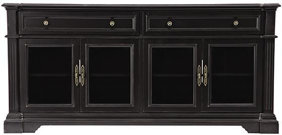 Black Frame Glass Display Cabinet