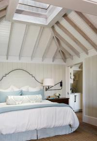 Beach Cottage Bedroom with Vaulted Skylight Ceiling ...